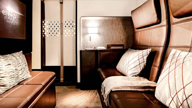 Foto: La suite disponible en los aviones A380 de Etihad Airways tienen baño privado con ducha, sala de estar con todas las comodidades y dormitorio.