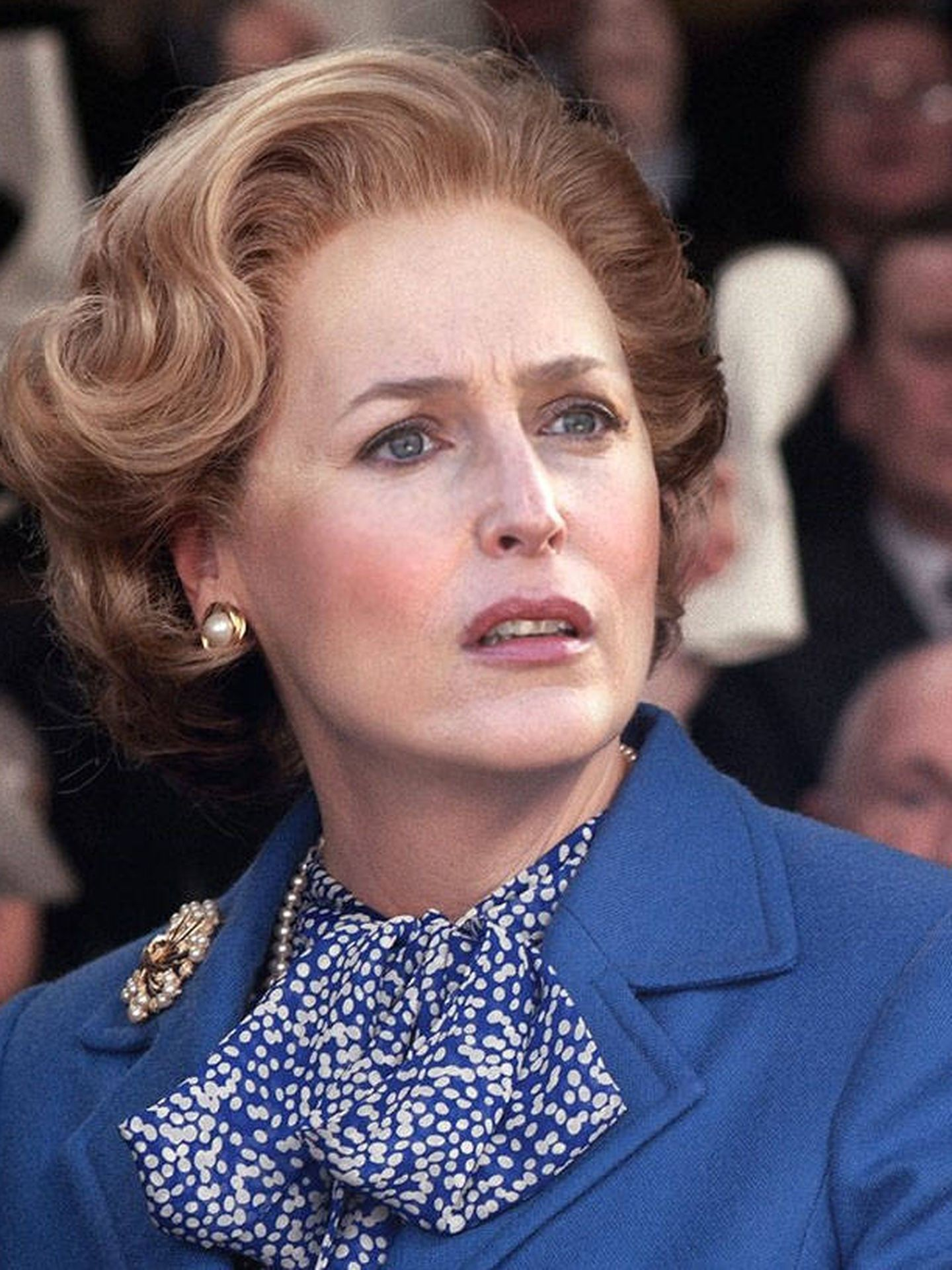 Gillian Anderson interpreta a Thatcher en 'The Crown'. (Netflix)