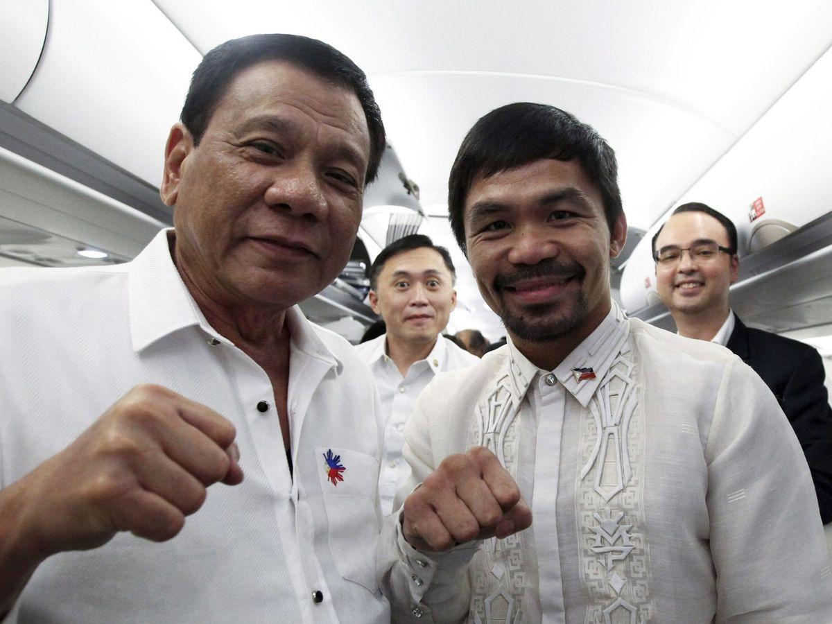 Foto: Rodrigo Duterte y Manny Pacquiao. (EFE)