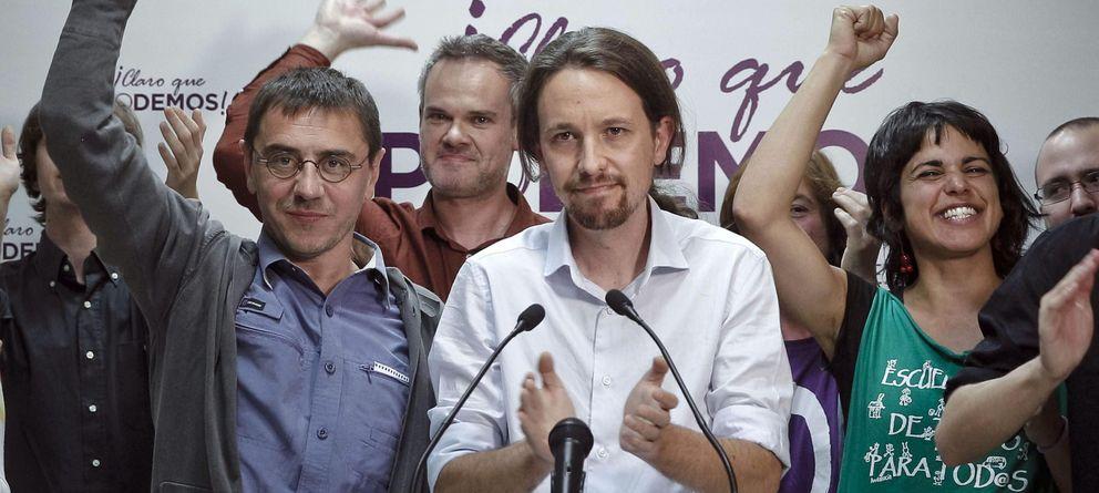 Foto: Los principales líderes de Podemos, el pasado mes de mayo. (Efe)