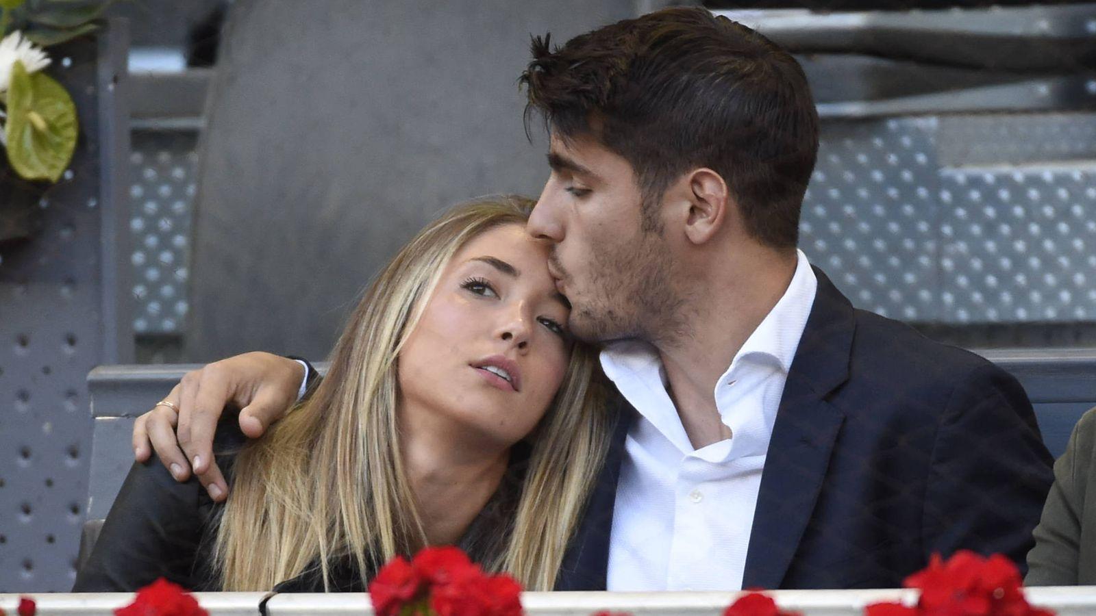 Foto: Alvaro Morata y su novia Alice Campello.