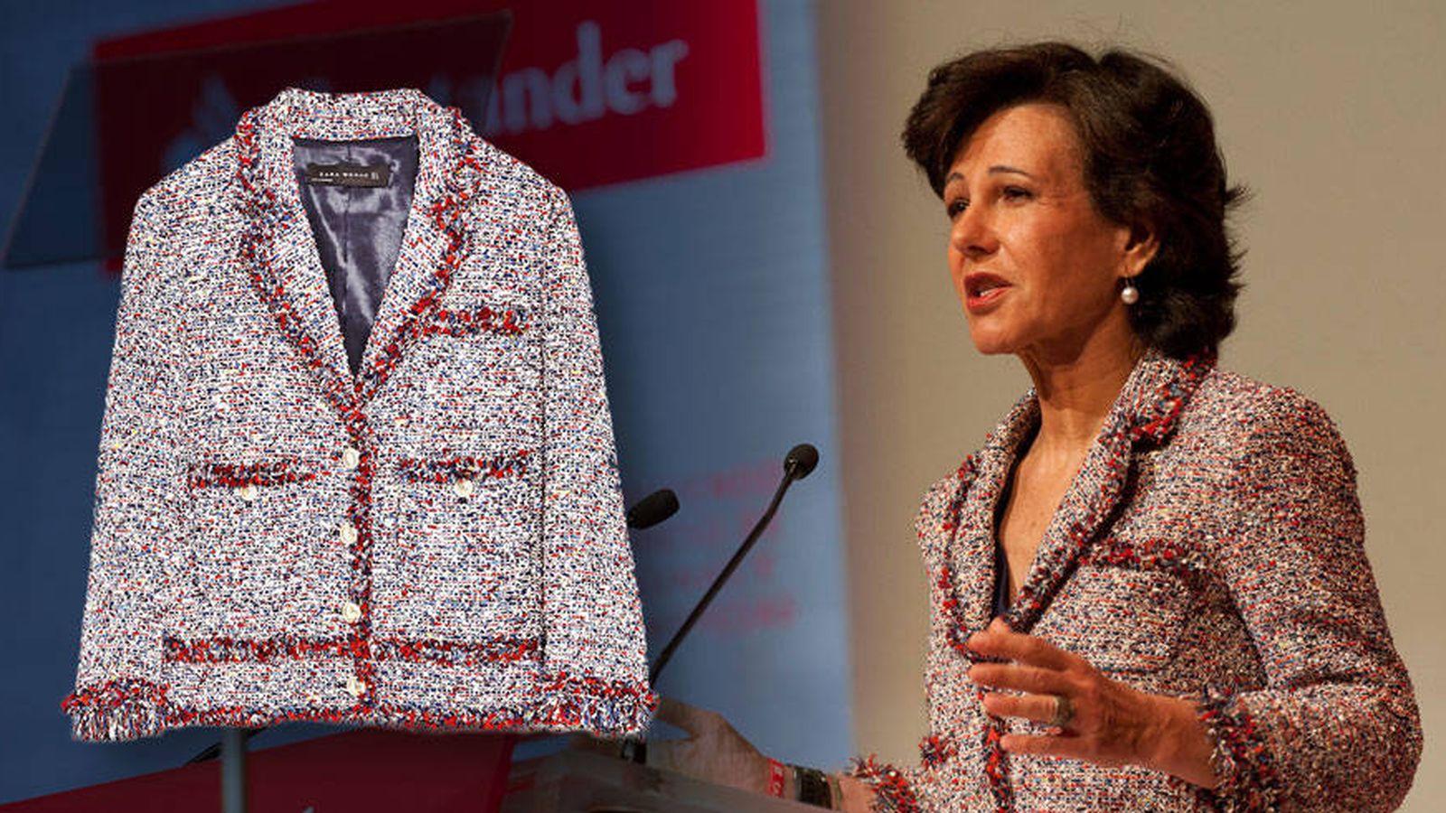 Foto: Ana Patricia Botín y su chaqueta en un fotomontaje de Vanitatis.