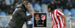 Falcao engrasa la máquina de Simeone con un 'hat-trick' y el Atlético gana por fin a domicilio