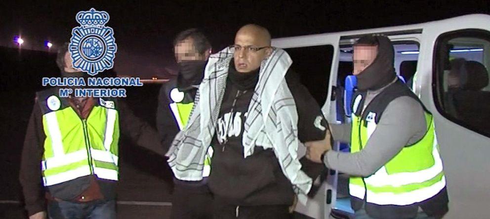 Foto: Rafá Zouhier, expulsado de España tras salir de prisión (Policía Nacional)
