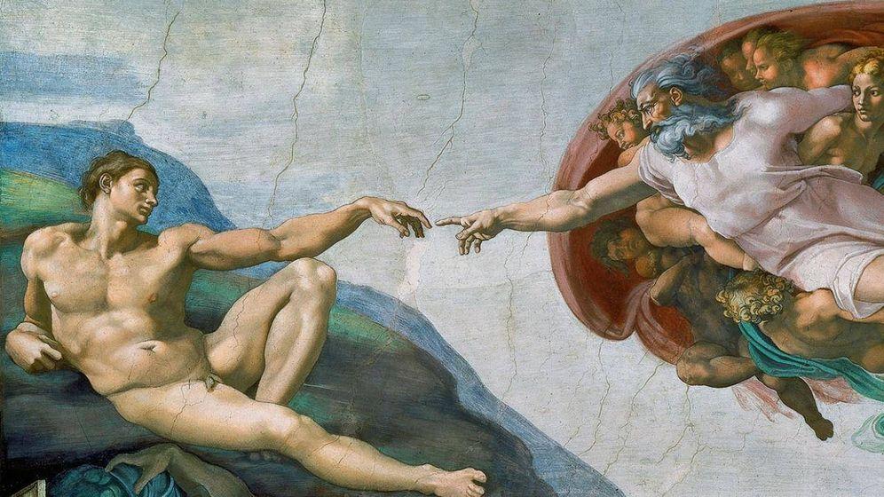Foto: La creación de Adán según Miguel Ángel