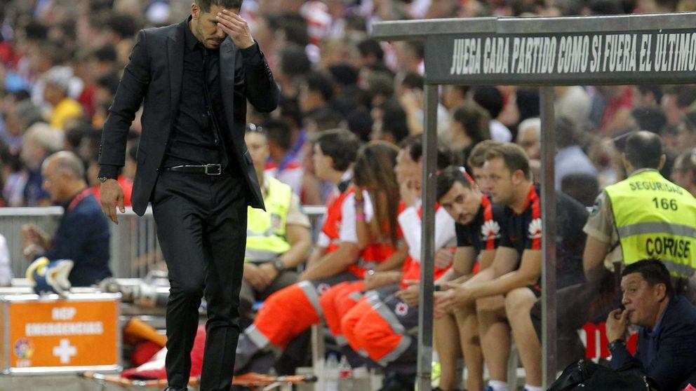 La impotencia de Simeone: el Atlético volvió a meter el culo en su área