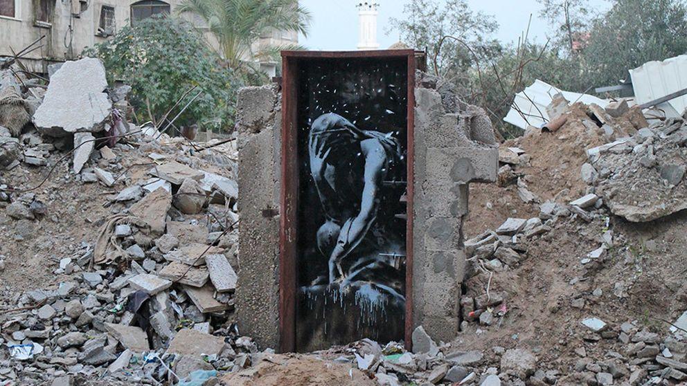 Los grafitis de Banksy en Gaza