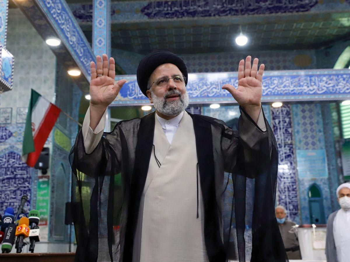Foto: Ebrahim Raisi, durante la campaña electoral. (Reuters)