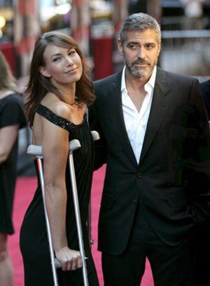 George Clooney y su novia pasaron una romántica velada en Roma
