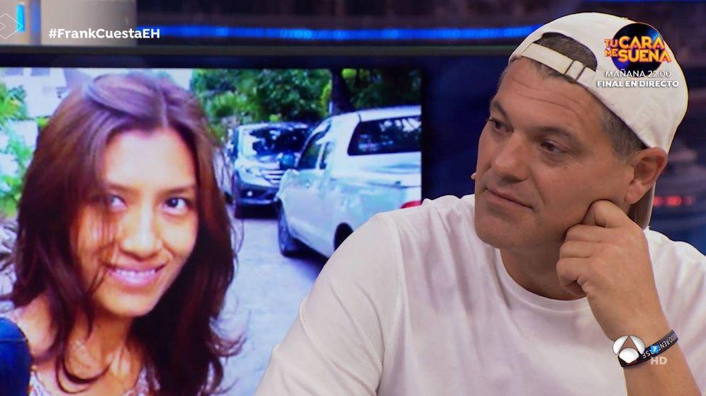 Foto: Frank Cuesta y de fondo su exmujer Yuyee. (Atresmedia)