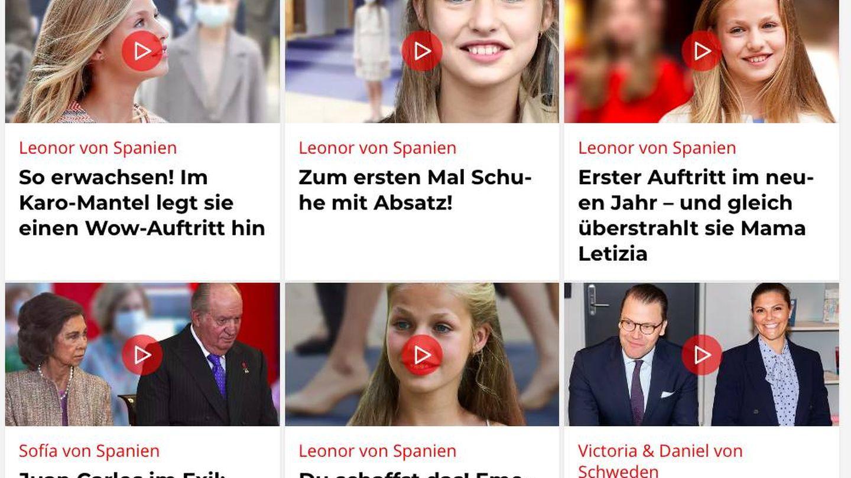 La princesa Leonor acapara gran protagonismo en el portal alemán 'Bunte'.