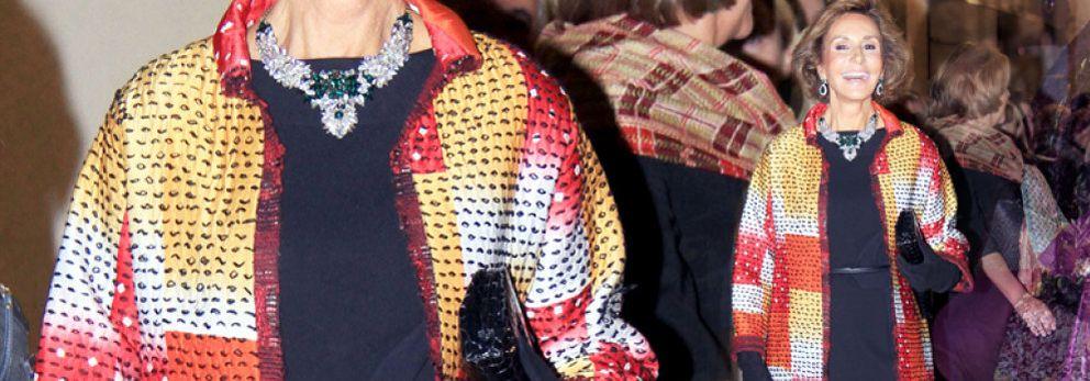 Naty Abascal luce en la ópera su abrigo Óscar de la Renta de 5.000 euros