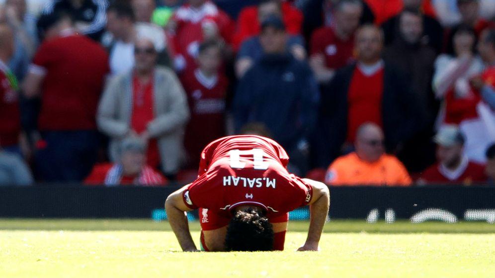 Foto: Mohamed Salah celebra un gol durante un partido de la Premier Leage | Reuters