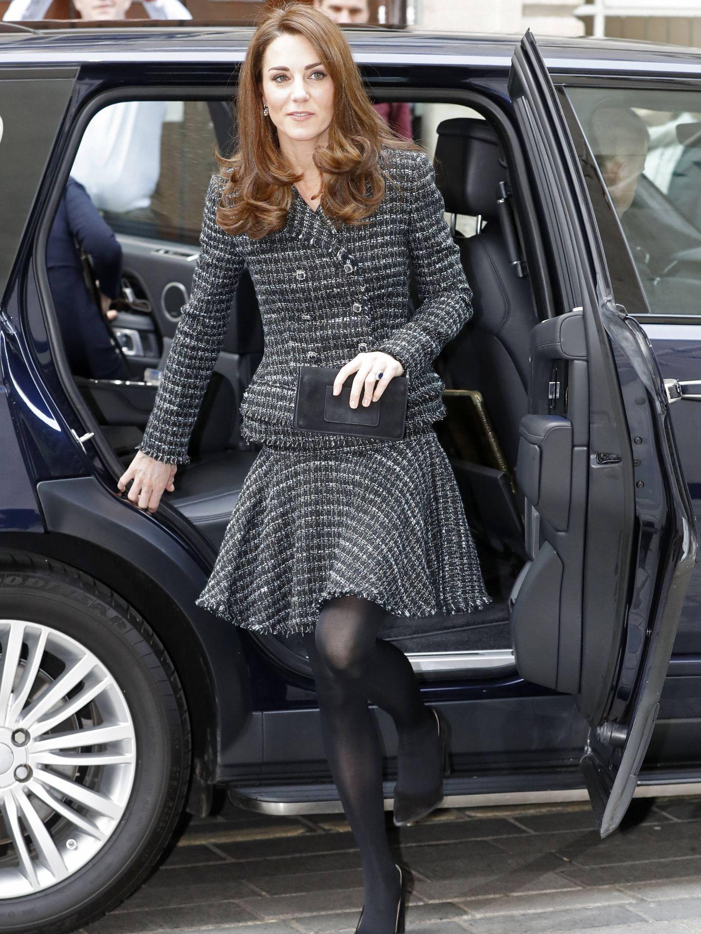 La duquesa de Cambridge llegando a la conferencia sobre 'Salud mental en la educación'. (Getty)