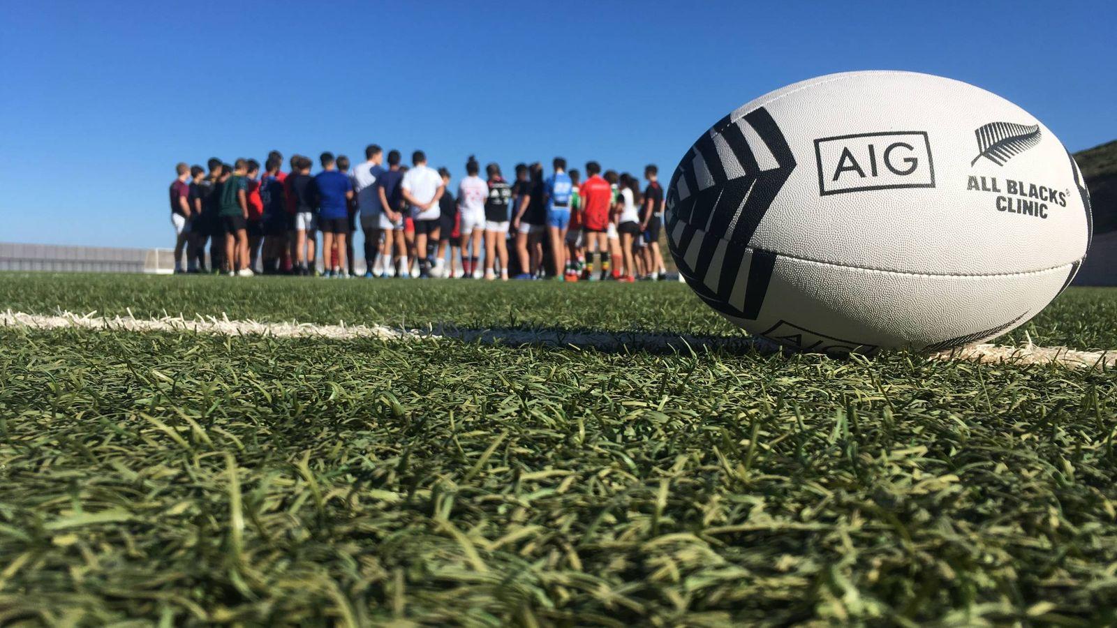 Foto: Los All Blacks visitaron Granada para impartir un clínic junto a la empresa Kiwi Sports.