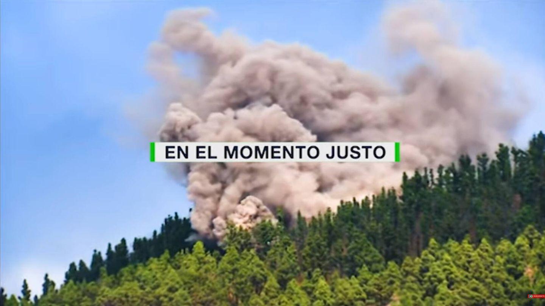 Momento de la erupción. (TV Canaria)