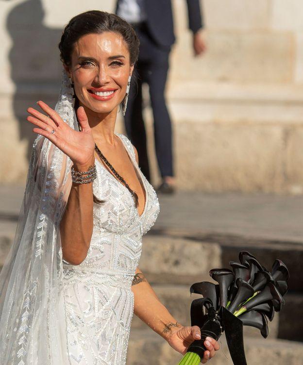 Foto: Pilar Rubio en su boda. (EFE)