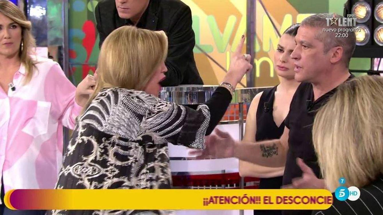 Bronca descomunal entre Belén Esteban y Gustavo González a cuenta de Andrea Janeiro