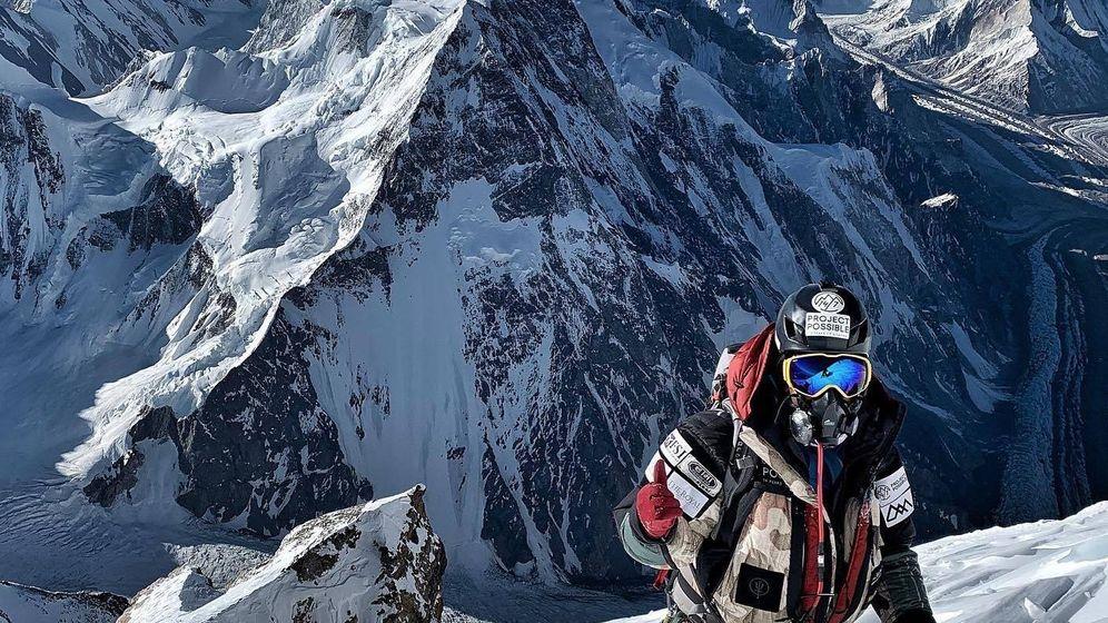 Foto: Nirmal Purja ascendiendo K2. (@nimsdai)