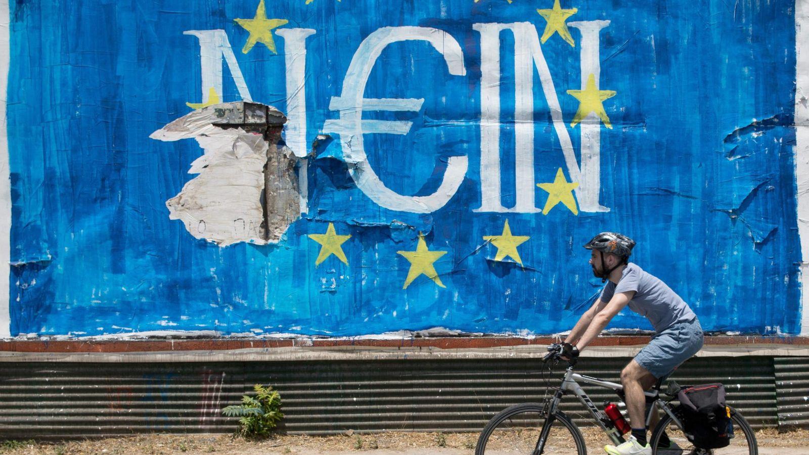 Foto: Pintadas en Atenas. (EFE)