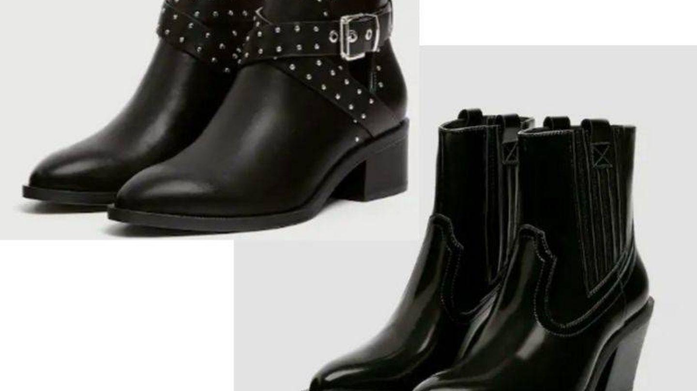 Botines de tachitas y botas cowboy. (Cortesía)