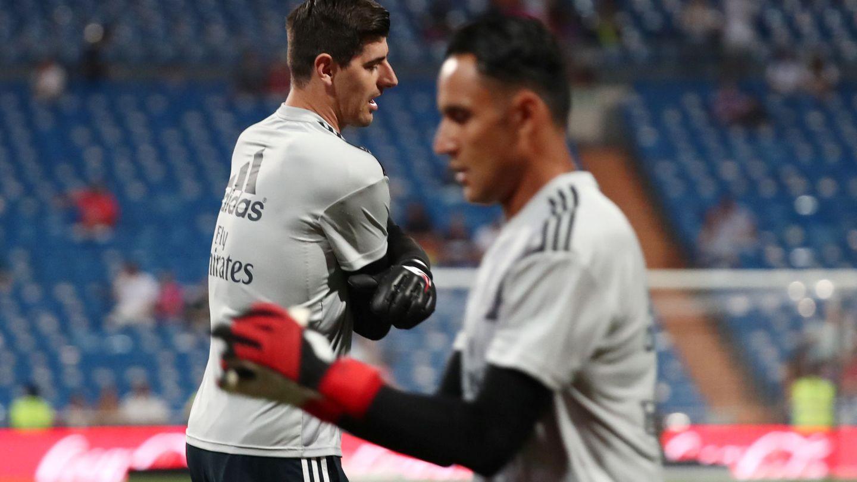 Keylor Navas ha sido el portero titular en los dos partidos oficiales del Real Madrid. (Reuters)