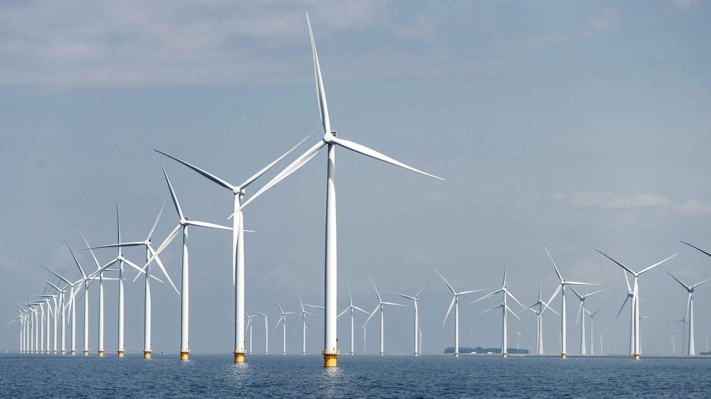 Parque eólico marino frente a las costas de Gran Bretaña (EFE)