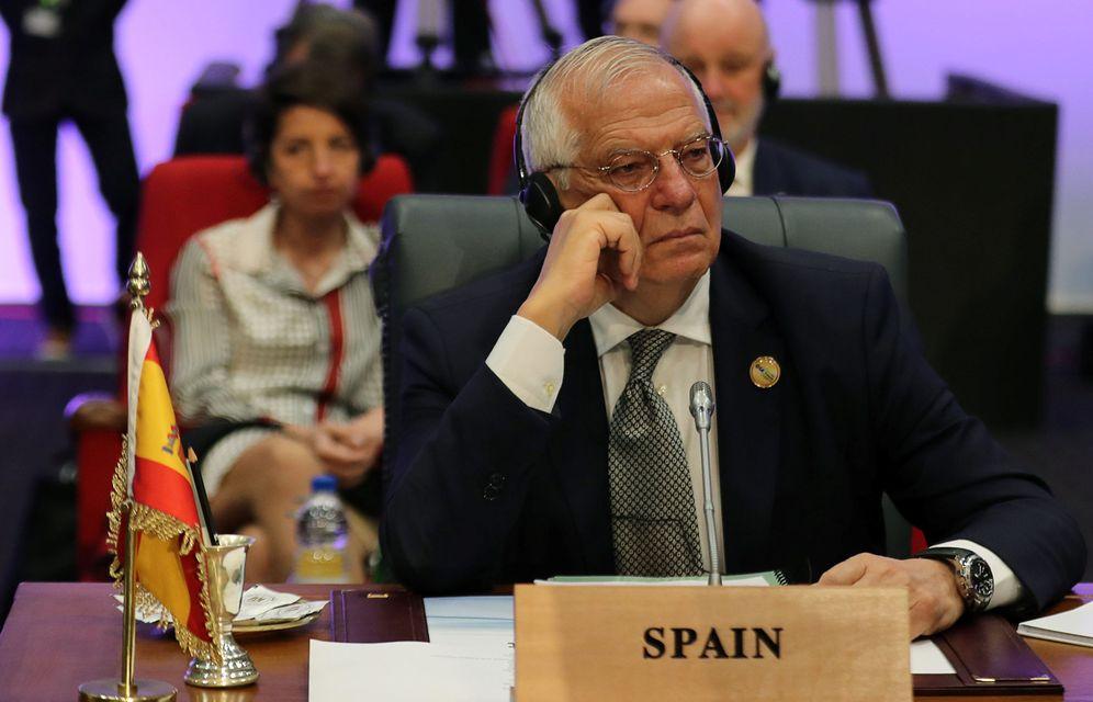 Foto: El ministro de Exteriores, Josep Borrell, este 24 de febrero en Sharm el-Sheikh, Egipto, en la cumbre UE-Liga Árabe. (Reuters)