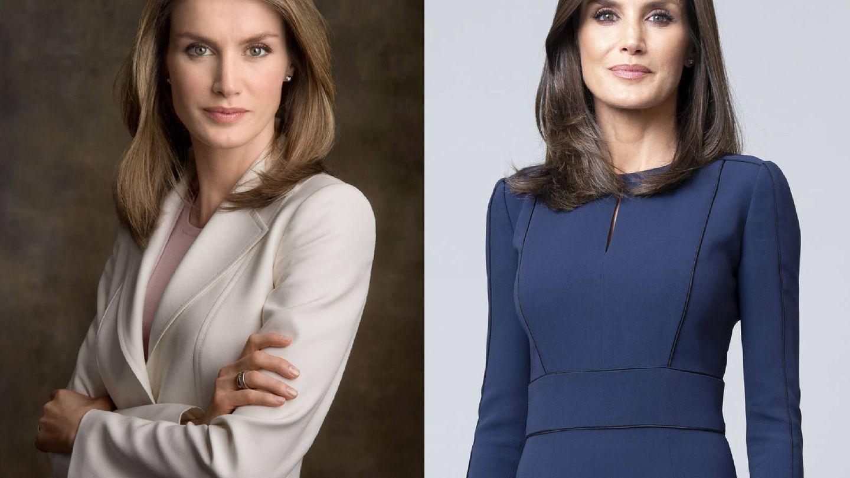 Doña Letizia en 2010 y en 2020.
