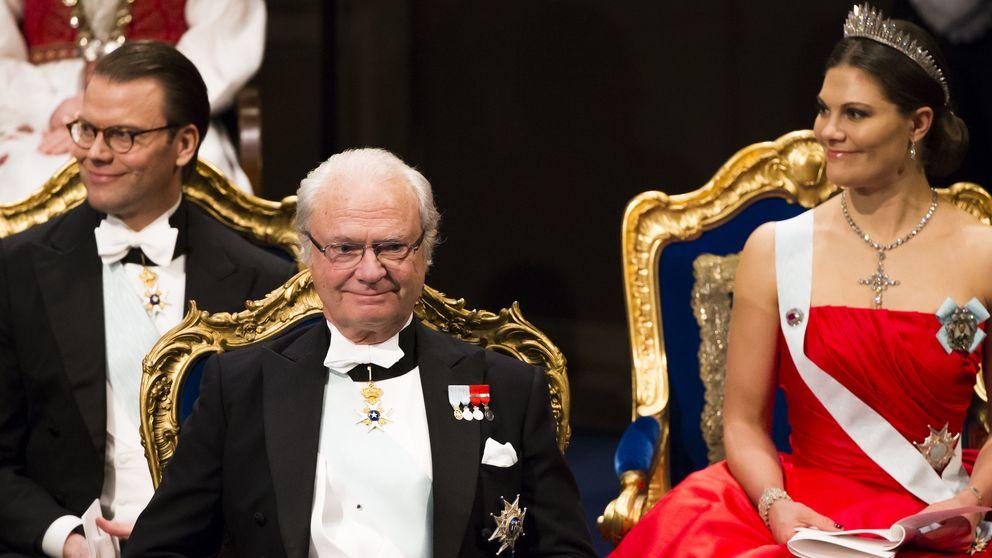 Impresionante despliegue de joyas reales en los Nobel