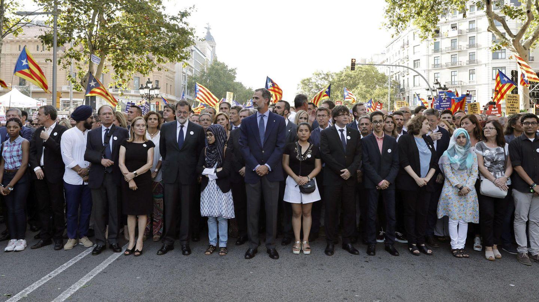 Manifestación en Barcelona contra los atentados yihadistas en Cataluña. (EFE)