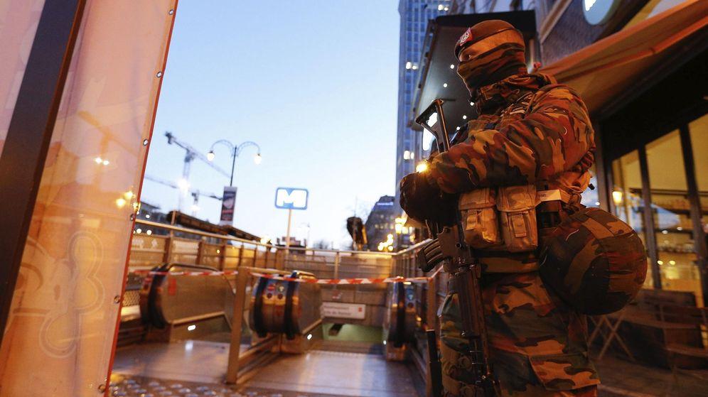 Foto: Máxima alerta declarada en Bruselas (Efe)