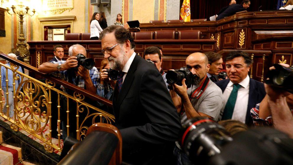 Rajoy comparece por la Gürtel en el Congreso, en imágenes