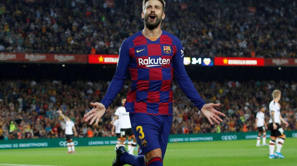 Foto: Gerard Piqué, durante un partido de esta temporada con el FC Barcelona. (Reuters))