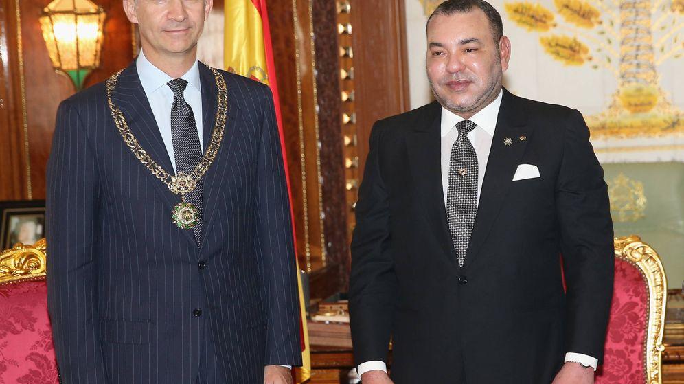 Foto: El rey Felipe y el rey Mohamed, en Rabat en 2014. (Getty)