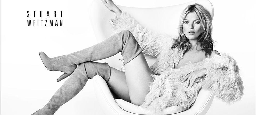 Foto: Imagen de la campaña de Kate Moss para la firma Stuart Weizman. (stuartweizman.com)