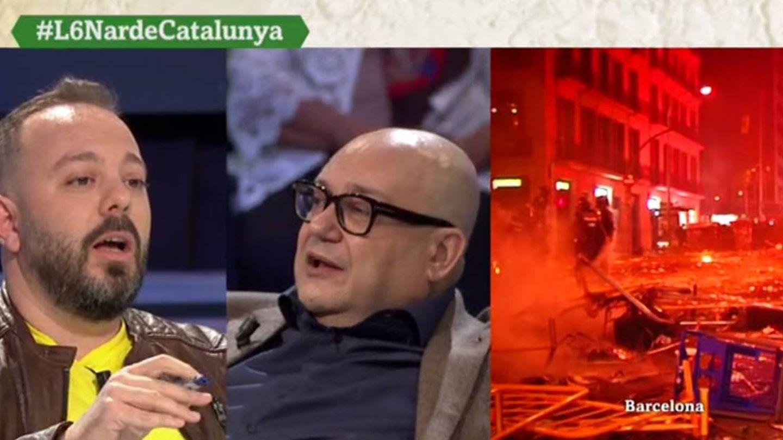 Antonio Maestre y Miquel Giménez, en 'La Sexta noche'. (Atresmedia).