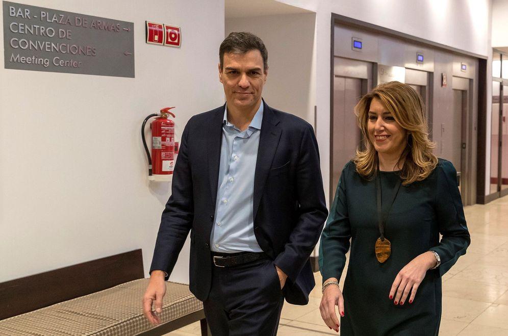 Foto: Pedro Sánchez y Susana Díaz, el pasado 23 de enero en Sevilla, en el encuentro del Foro Joly. (EFE)