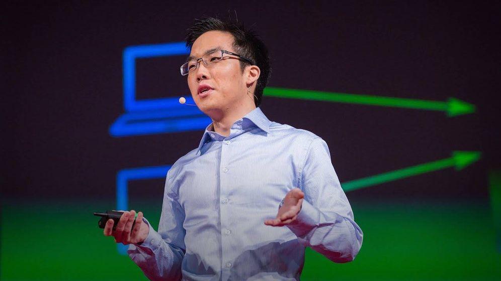 Foto: Andy Yen, creador de ProtonMail, el 'e-mail' cifrado usado por Tsunami Democràtic. (Foto: YouTube)