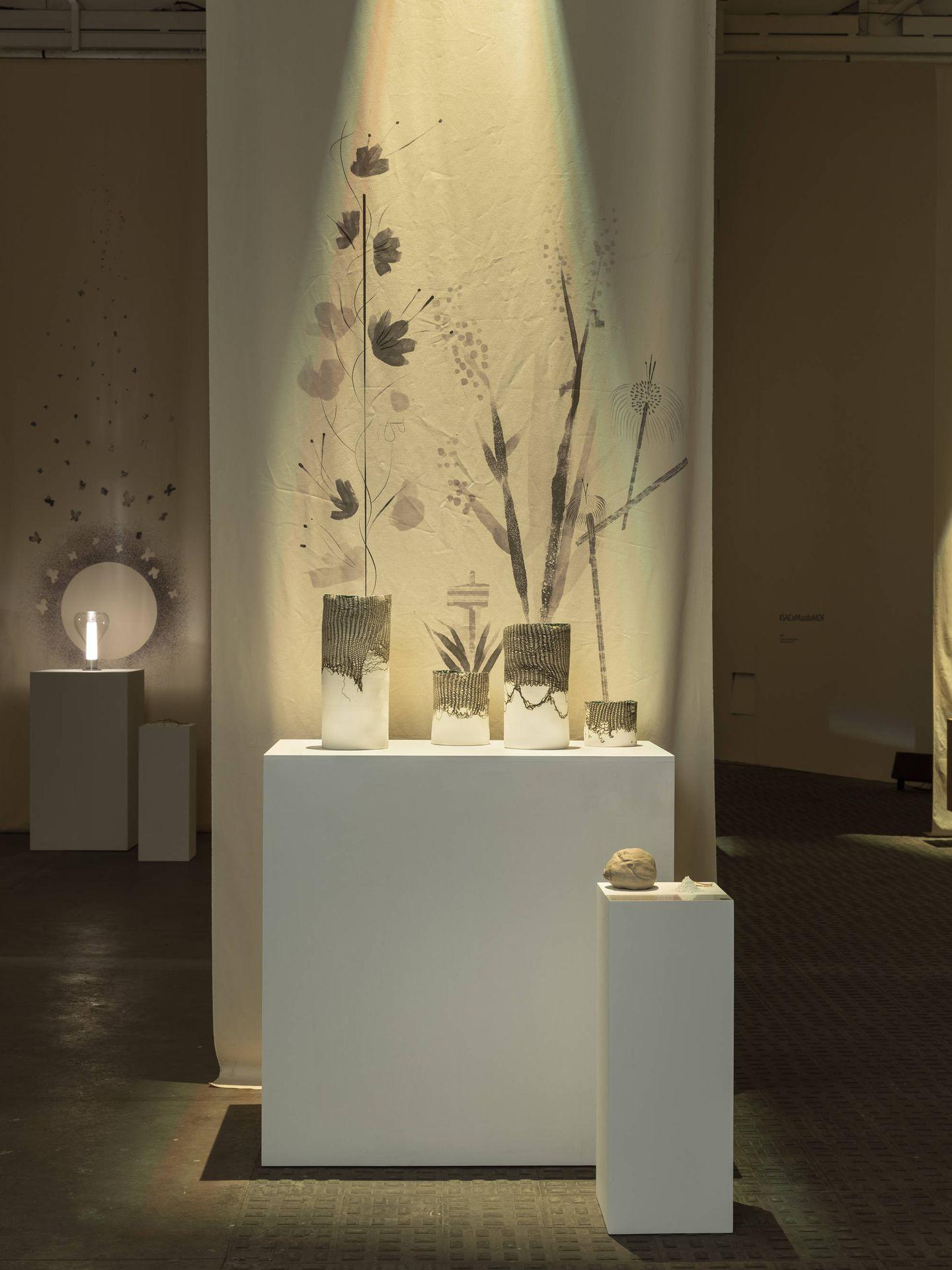 Algunas de las piezas que se exhiben en 'Artis-Manus'. (Cortesía)