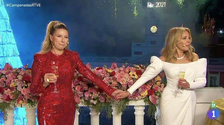 Uno de los grandes momentos de las campanadas de La 1. (TVE)
