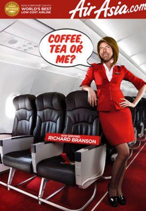 """Richard Branson, ¿nueva """"azafata"""" de Air Asia?"""