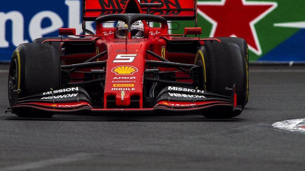 Foto: Sebastian Vettel durante el Gran Premio de México. (Ferrari)