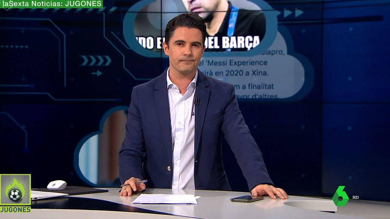 Guillermo Moreno, sustituto de Pedrerol en 'Jugones'. (Atresmedia Televisión)