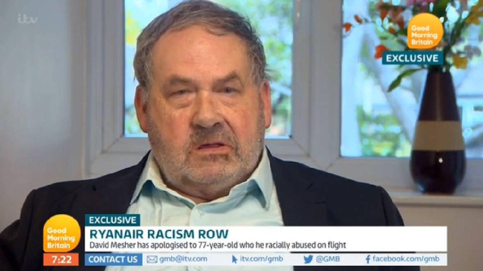 Foto: David Mesher, en el momento en el que pide disculpas en televisión (Foto: ITV)