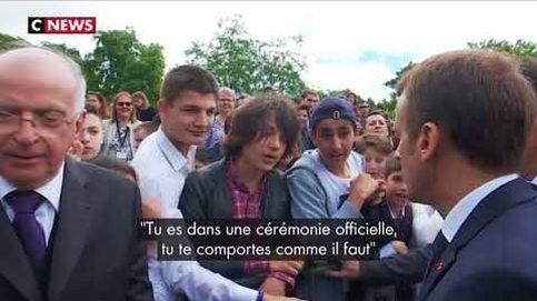 Macron regaña a un estudiante por llamarle Manu