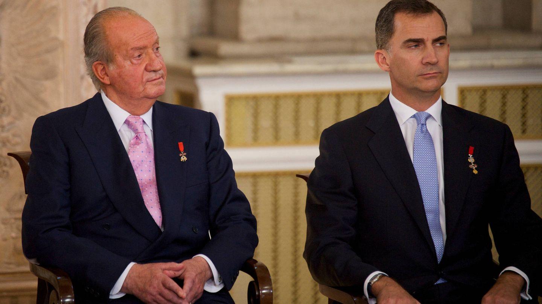 El rey Juan Carlos y el rey Felipe, en un acto conjunto. (Limited Pictures)