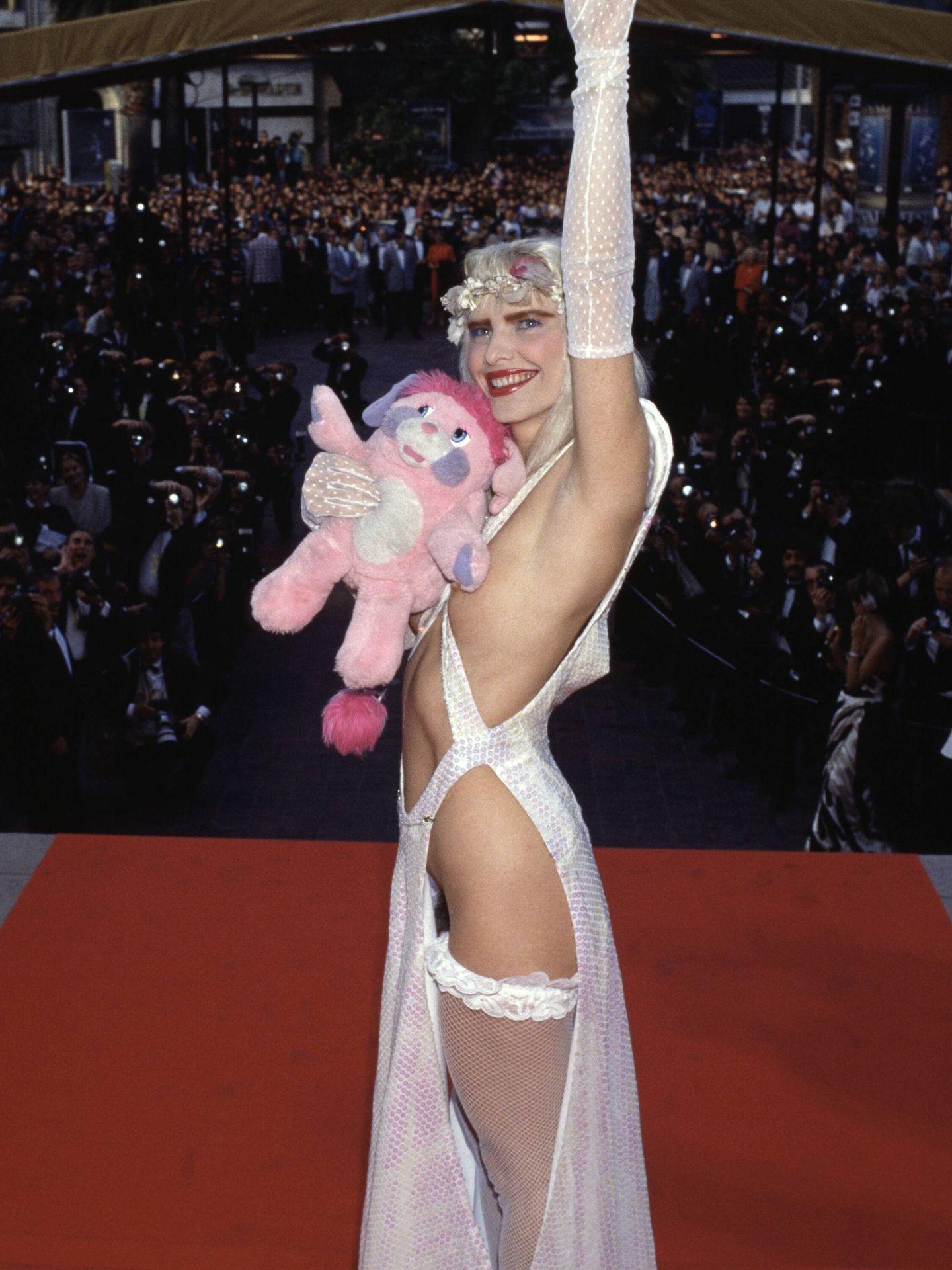 Cicciolina, en el Festival de Cannes de 1988. (Getty)
