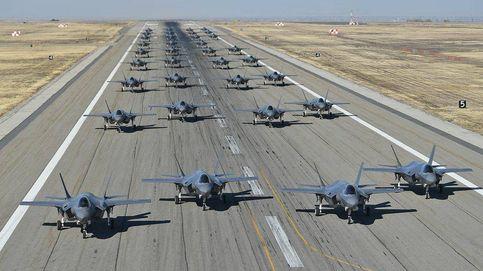 La brutal maniobra de poner 35 F-35 en el aire en segundos