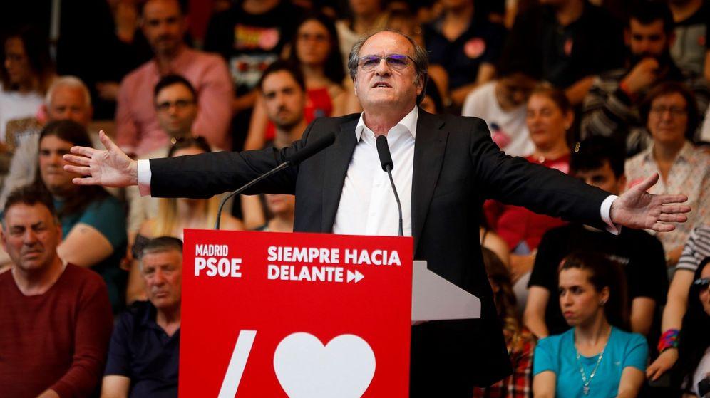 Foto: Ángel Gabilondo, durante un acto de campaña. (EFE)